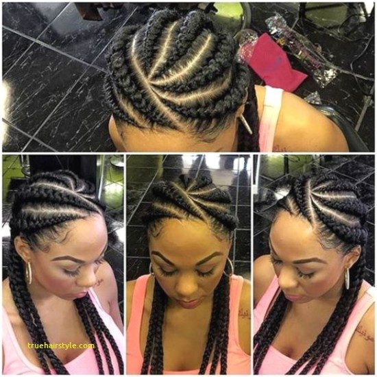 new unique braided straight up hairstyles in this year
