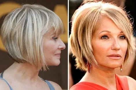 Short Hair for Round Face Over 50