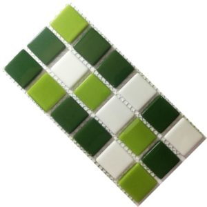Crystal Glass Solid Forest Mix Mosaic Tile