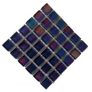 Crystal Glass Pearl Midnight blue mosaic tile
