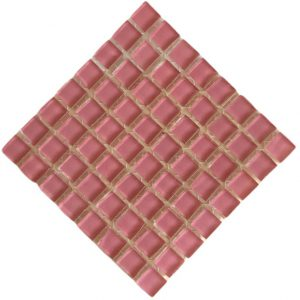 Crystal Glass Old pink mosaic tile