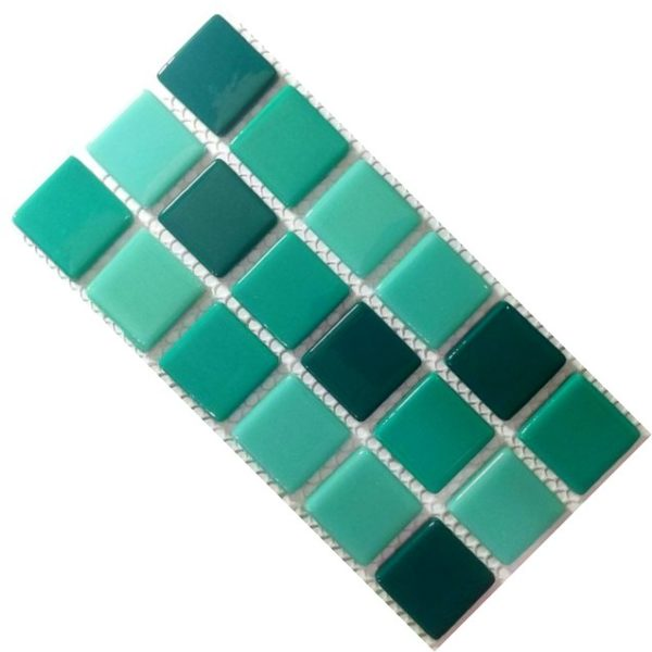 Crystal Glass Solids Sea Green Mix