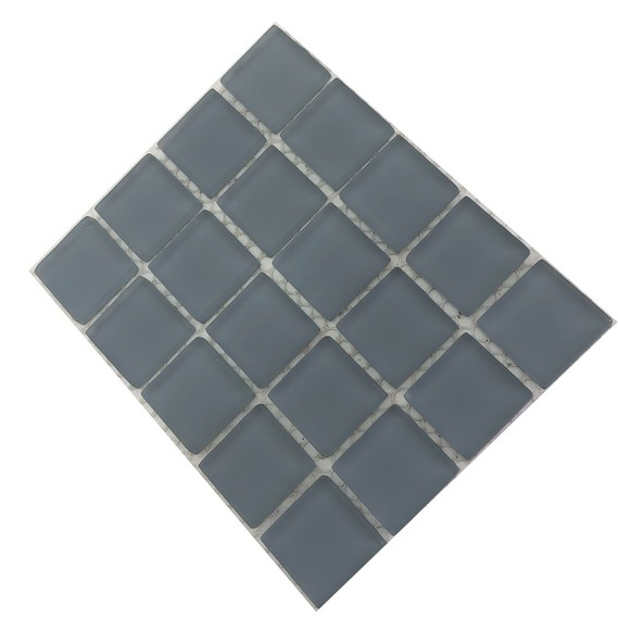 frosted grey mosaic