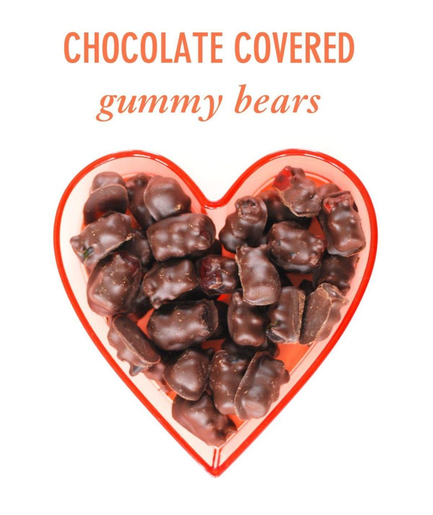 Chocolate Covered Gummy Bears for Valentine's Day - Twin Stripe Blog
