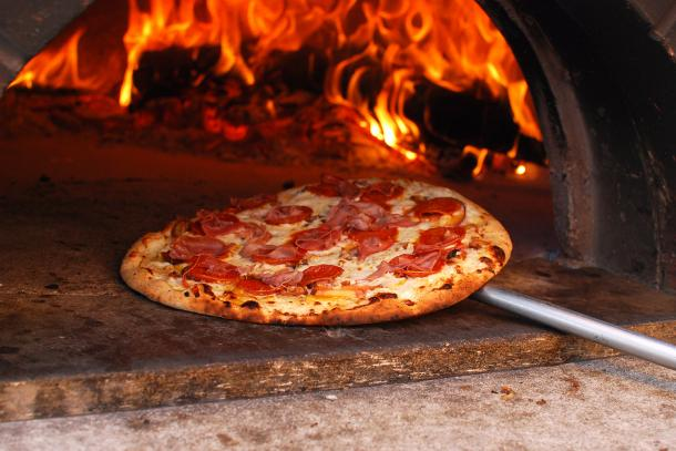 Image result for pizza in oven