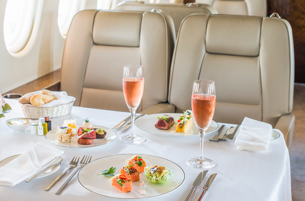 4 Things To Know About Catering Food On Private Flights 1