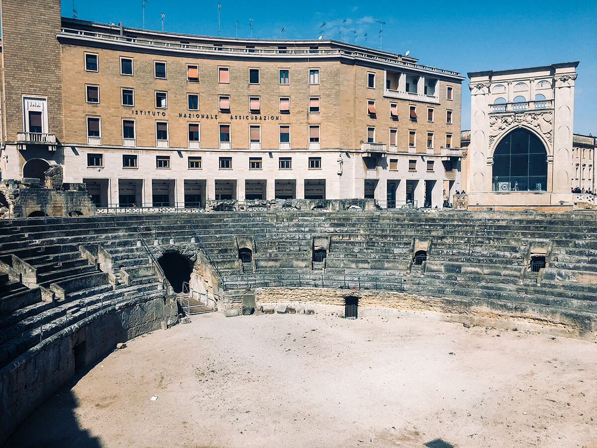 View of Amphitheater Lecce