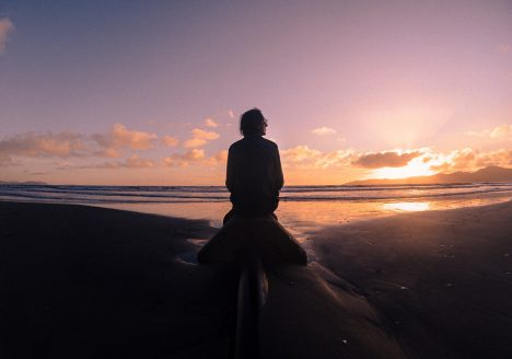 Looking at the sunset in Paraparaumu