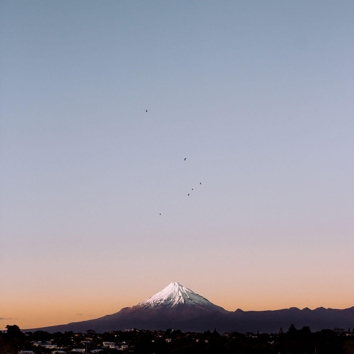 Sunrise over Mount Taranaki