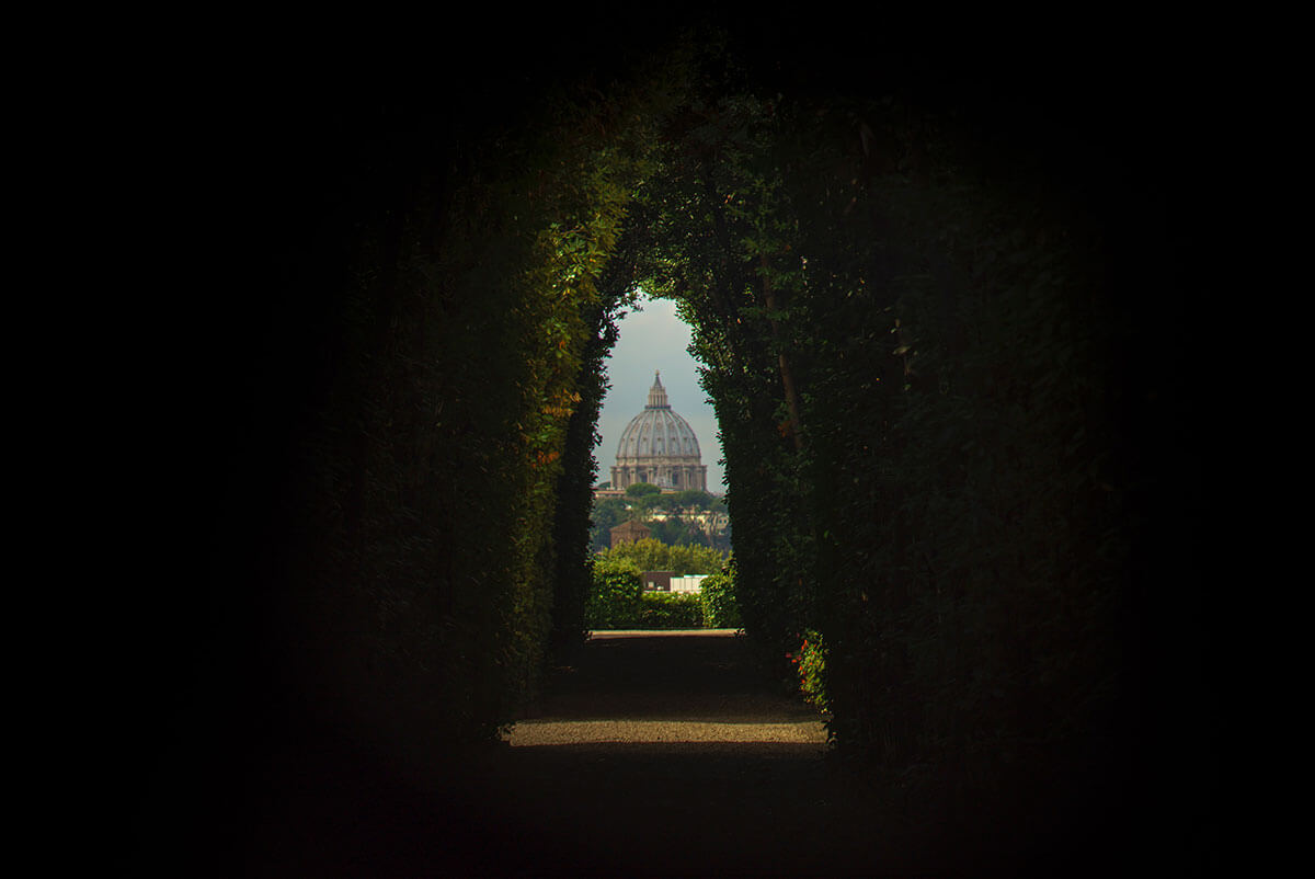 View from the keyhole in Rome