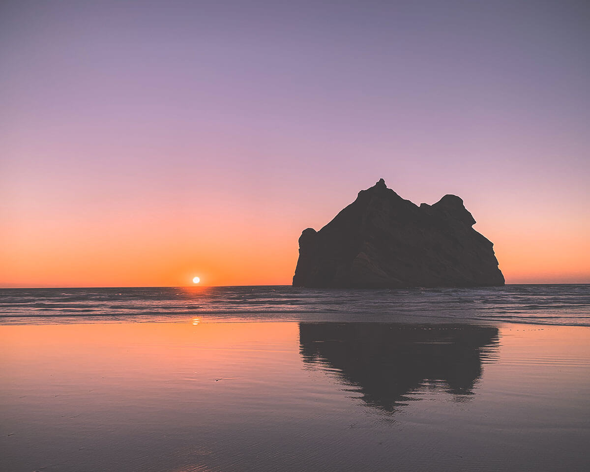 Sunset in Golden Bay, New Zealand