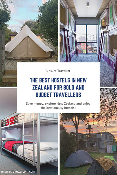 The best hostels in New Zealand for solo and budget travellers Pinterest Pin