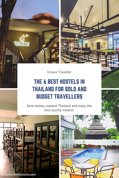 Best hostels in Thailand for solo and budget traveller Pinterest Pin