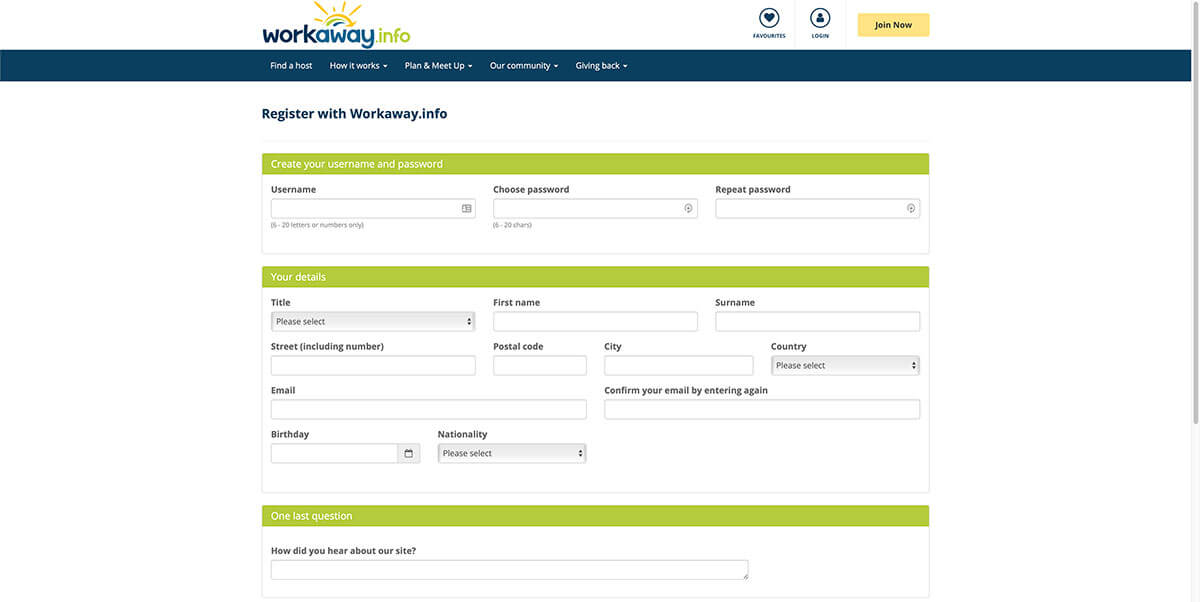how to set up your workaway account