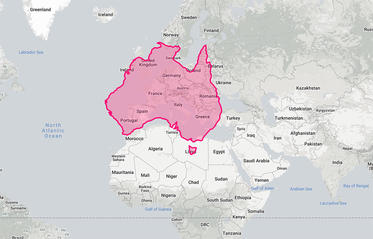 10 Things to know about Australia - Size of Australia