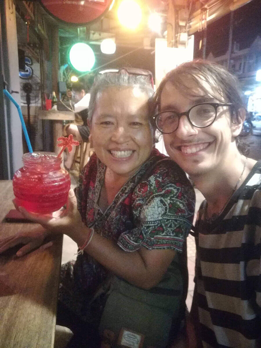 How I celebrated my 23rd birthday in Thailand - me with the one and only Mimi