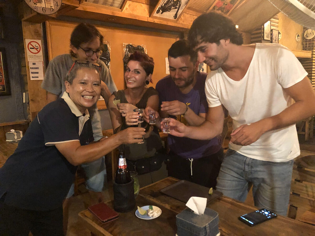 How I celebrated my 23rd birthday in Thailand - My new Kanchanaburi family