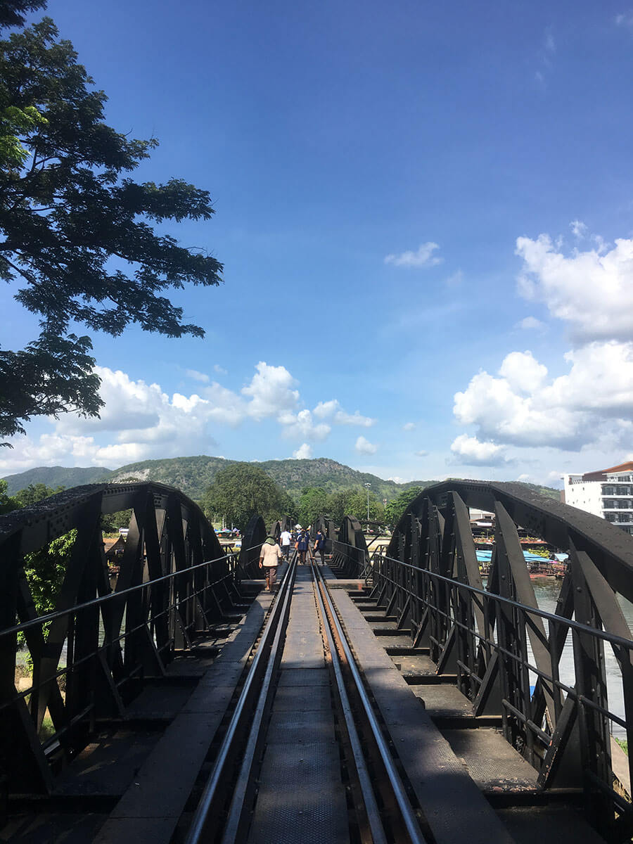 The bridge on the river Kwai- Kanchanaburi - Thailand