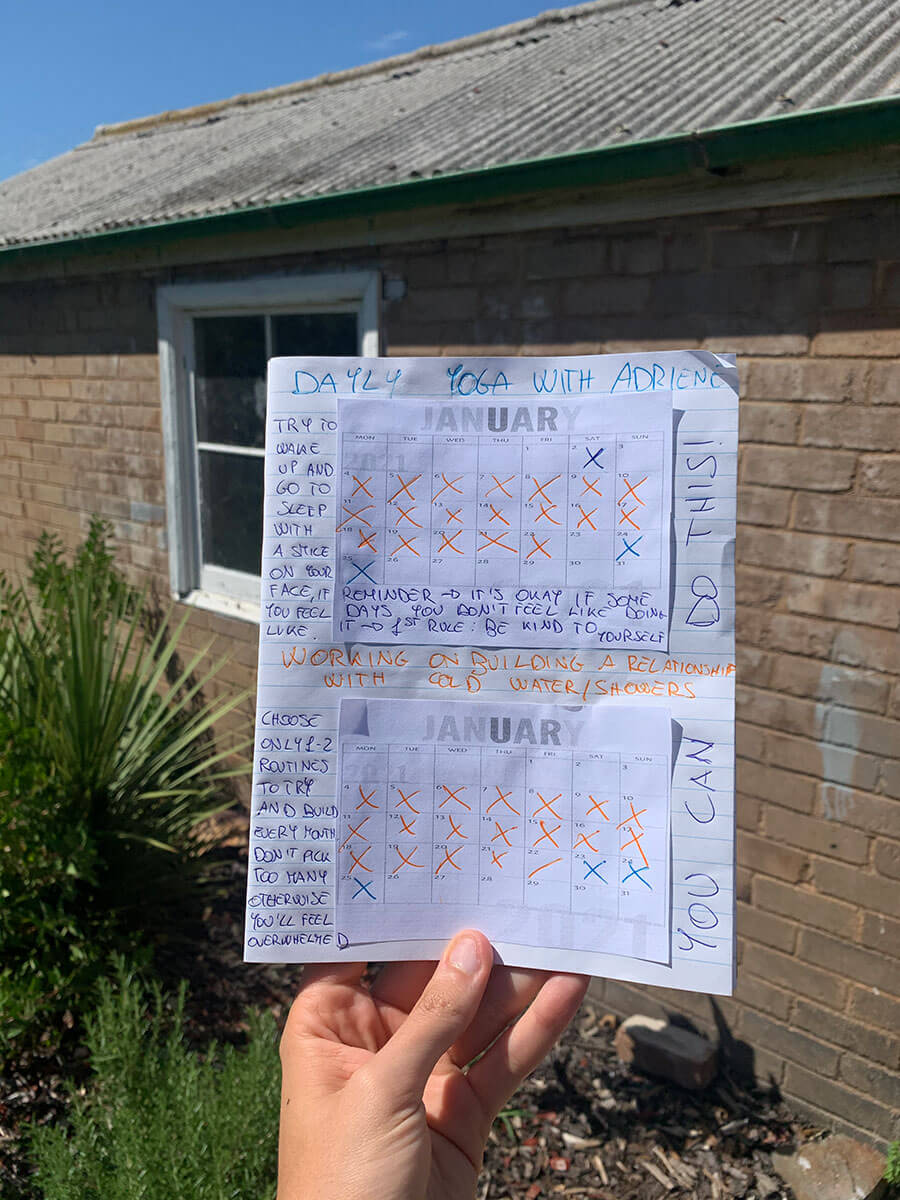 how to build routines in a healthy and steady way routine building planner