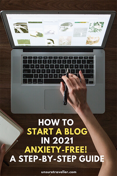 how to start a blog in 2021 anxiety-free