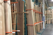 High quality lumber stacked in warehouse