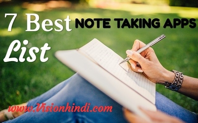 Best Note Taking Apps List in Hindi