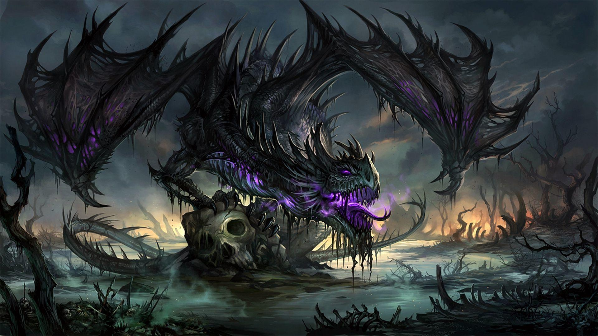 Cool Purple Dragon Wallpaper