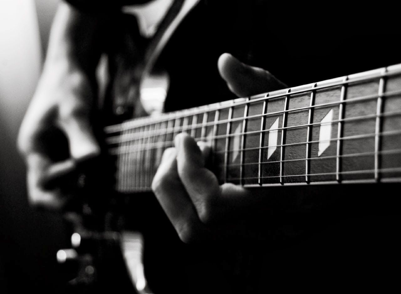 Electric Guitar Wallpaper Black And White