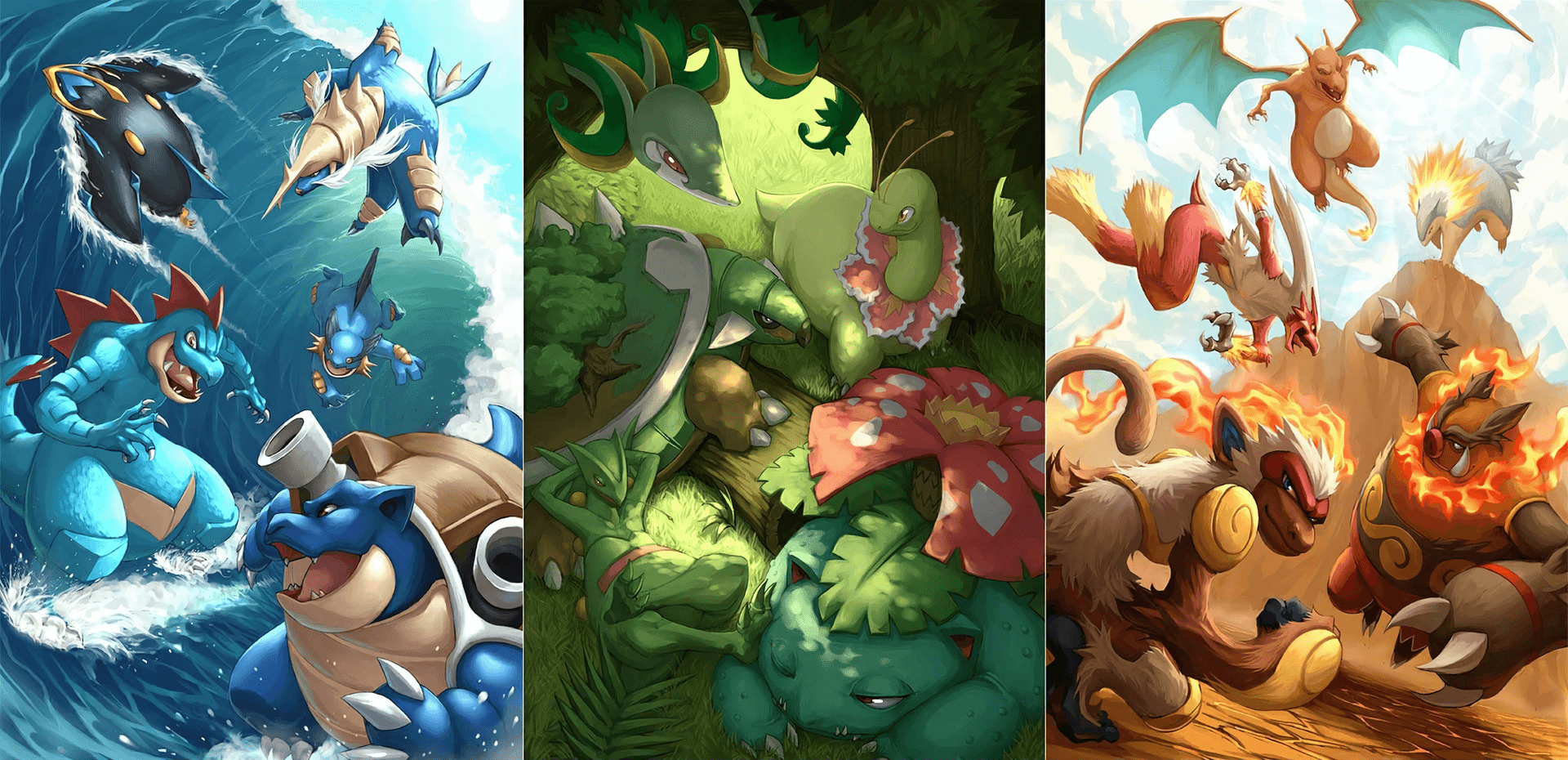 All Pokemon Starters Wallpaper