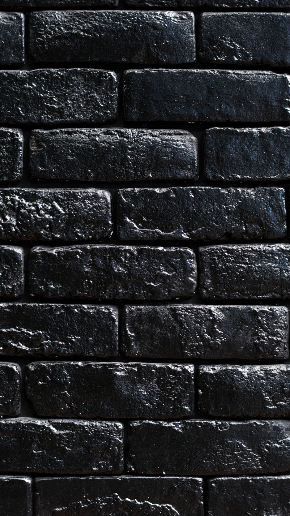 Black Brick Wall Iphone Wallpaper