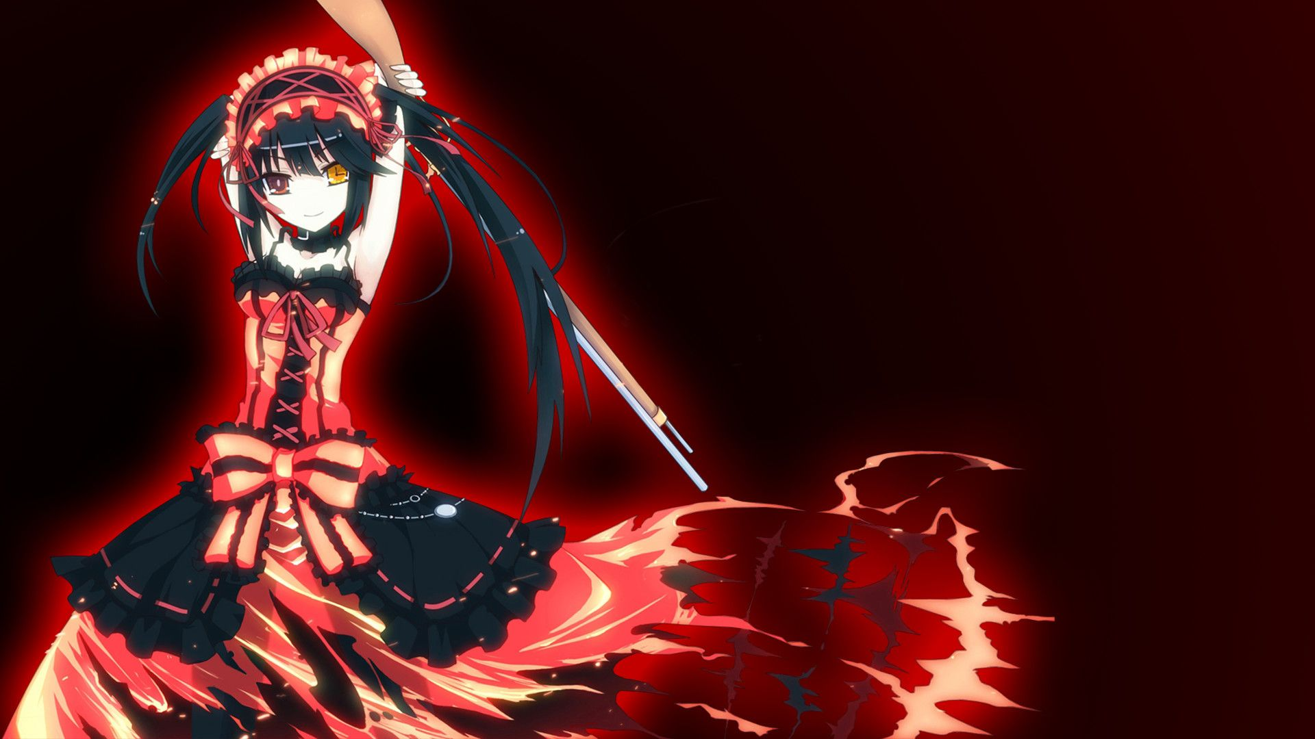Red And Black Wallpaper Anime