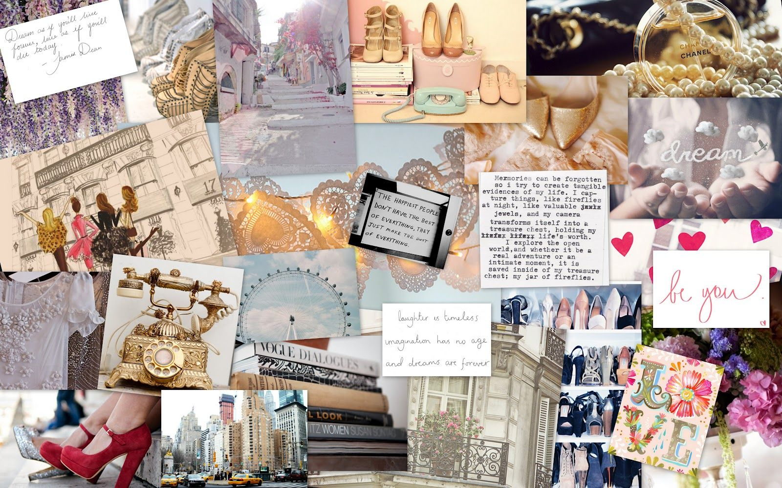 Aesthetic Tumblr Collage Wallpaper Laptop