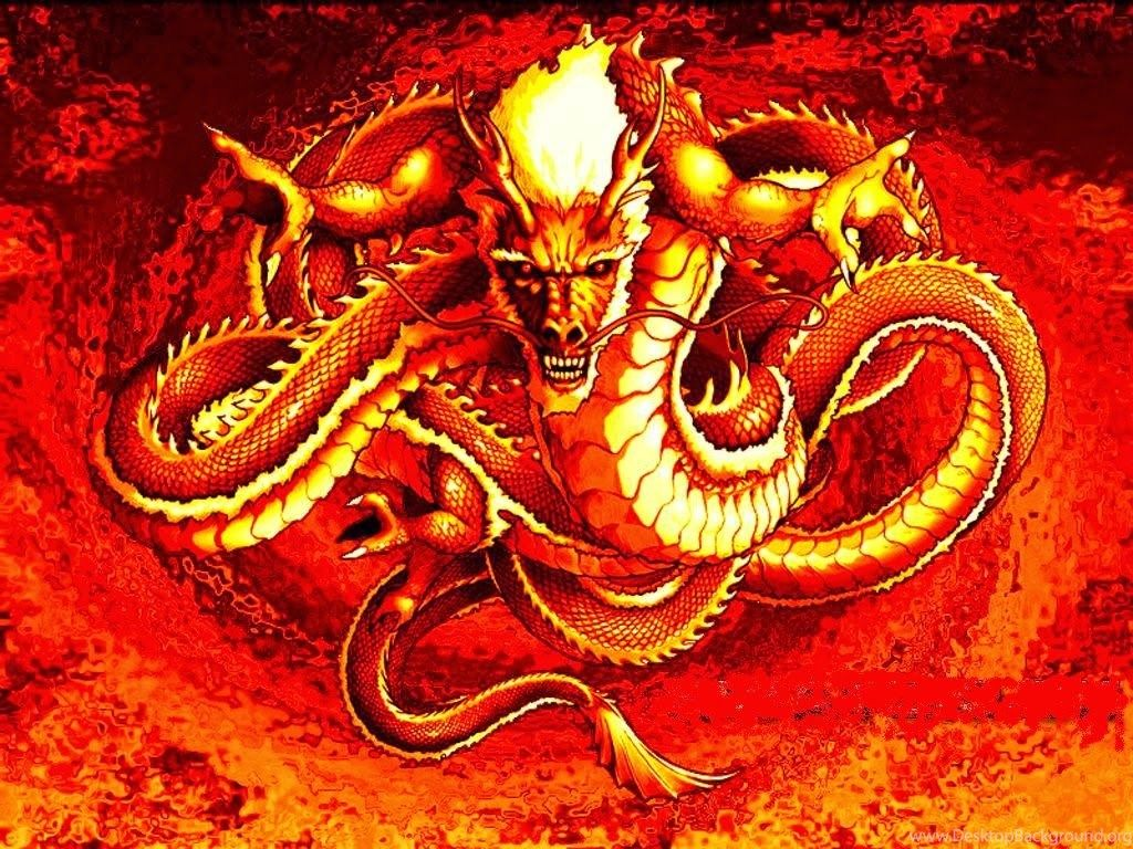Chinese Dragon Wallpaper Red
