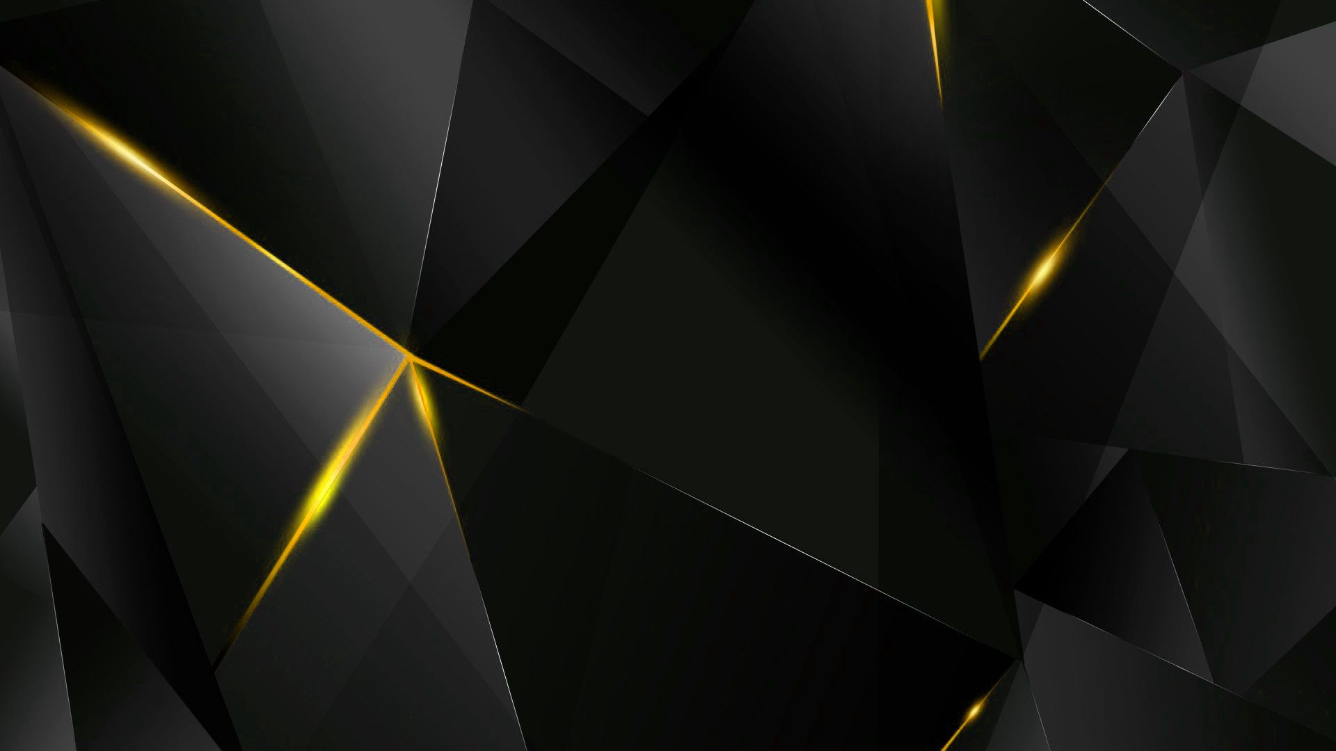 Abstract Black And Yellow Wallpaper