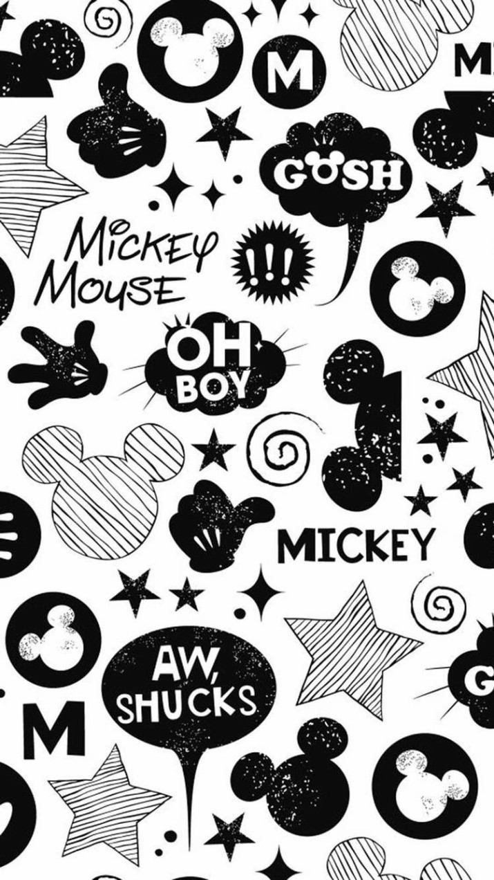 Home Screen Black And White Mickey Mouse Wallpaper