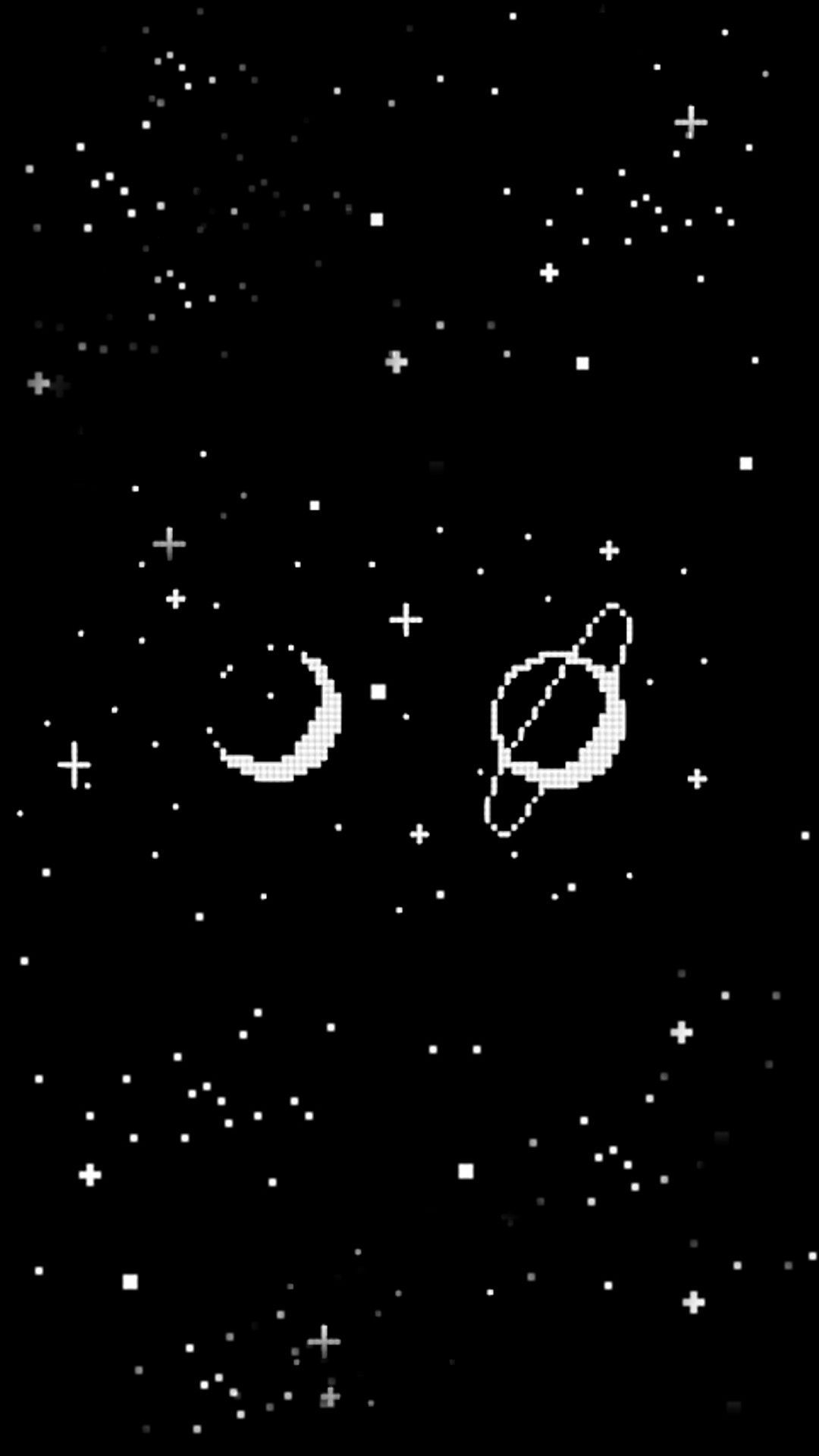 Aesthetic Black And White Space Wallpaper
