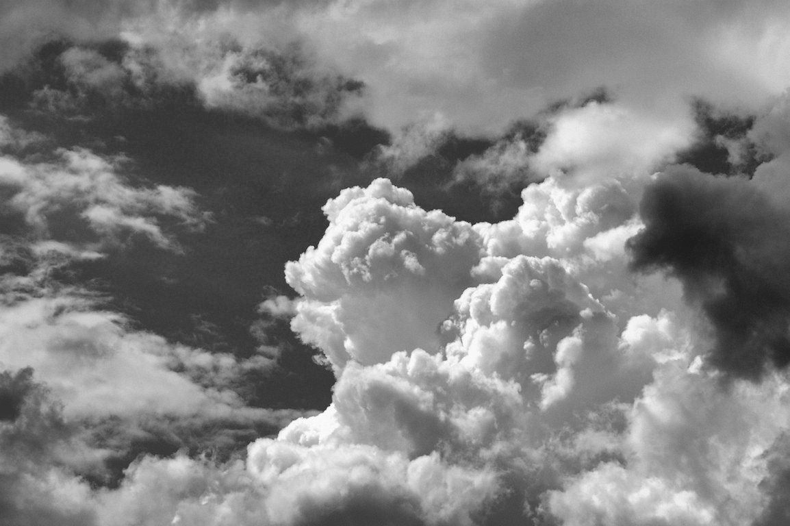 Black And White Wallpaper Clouds