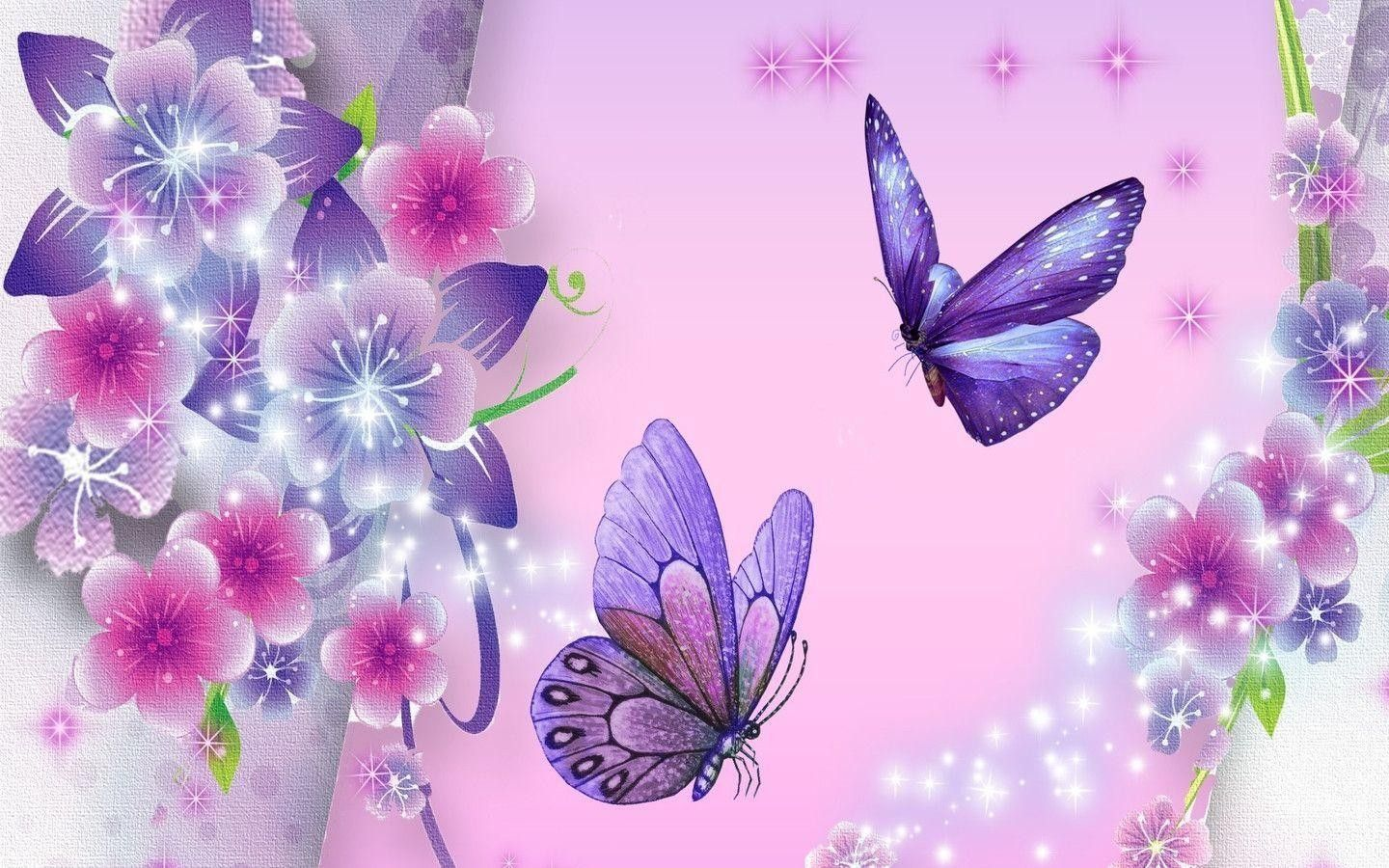 Glitter Wallpaper Butterfly Images For Dp