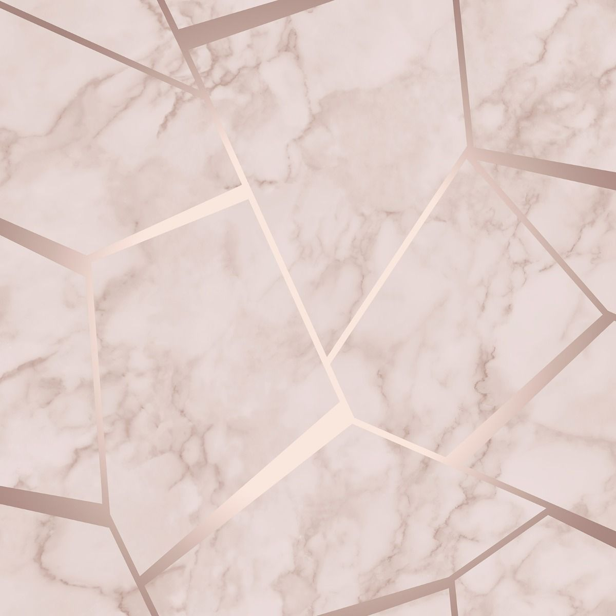 Rose Gold Ombre Marble Wallpaper