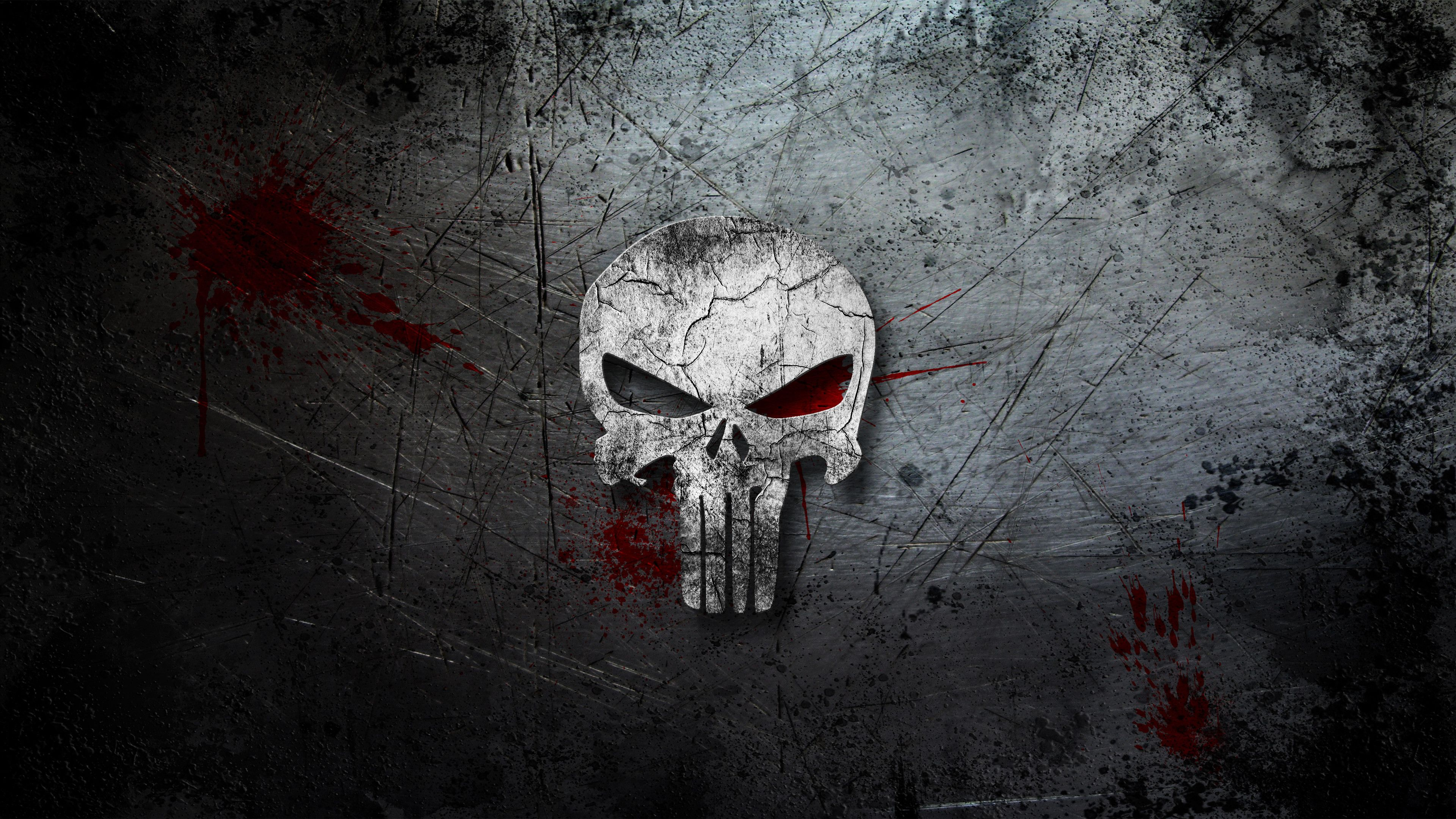 Wallpaper Punisher Skull Logo