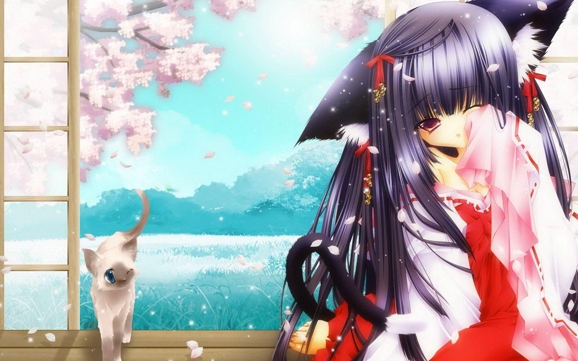 Cute Anime Cat Girl Wallpapers