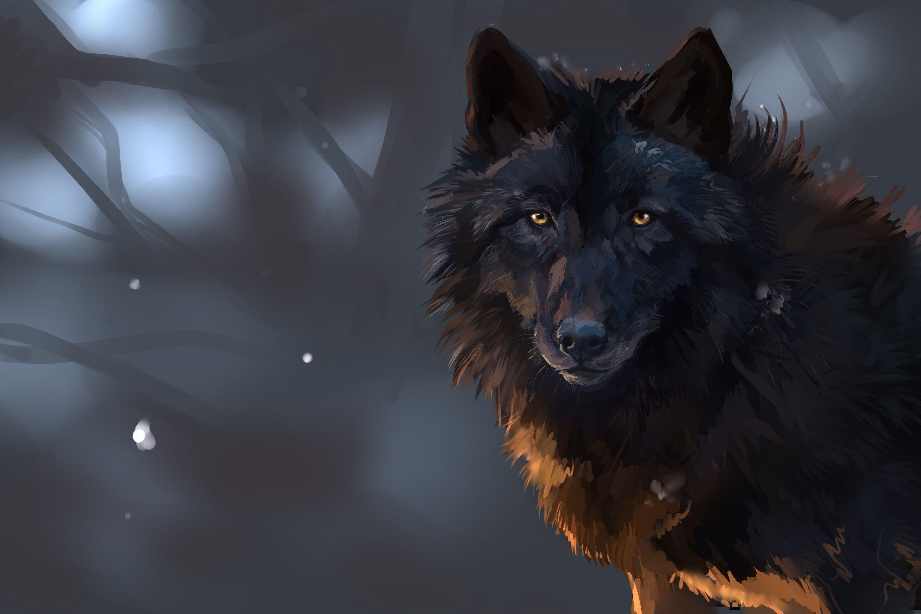Real Black Wolf Wallpaper