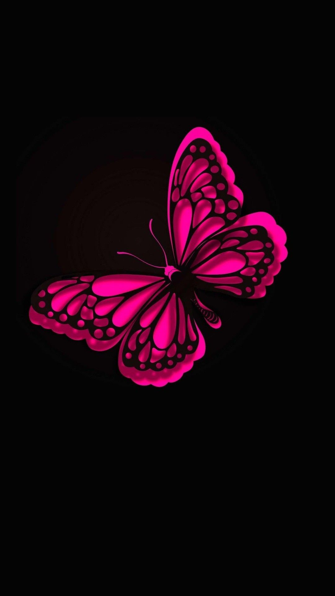 Home Screen Glitter Butterfly Wallpaper
