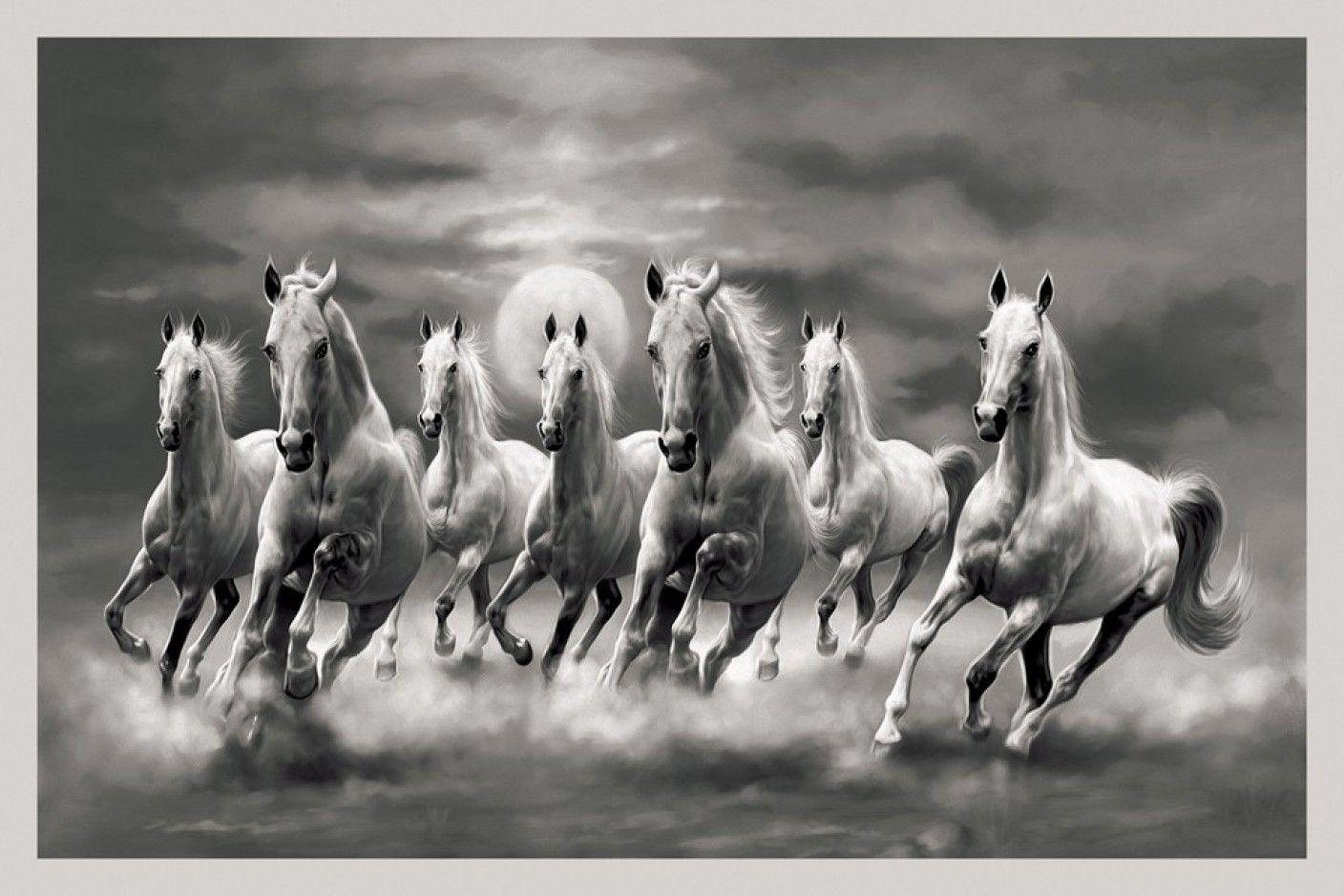 Wallpaper Seven White Horses