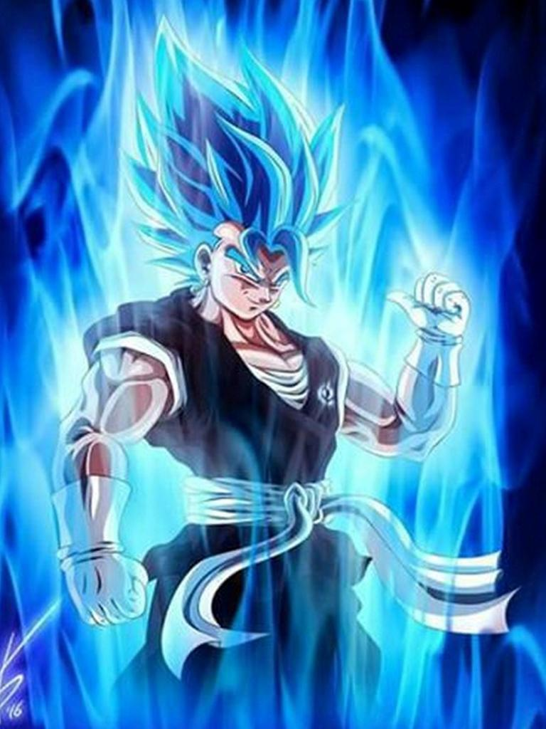 Wallpaper Blue Wallpaper Goku Super Saiyan God