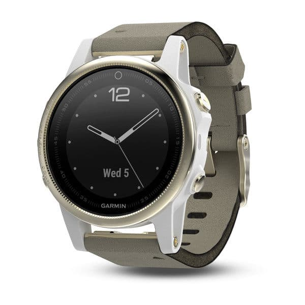 Garmin Fenix 5S Sapphire Champagne with Gray Suede Band