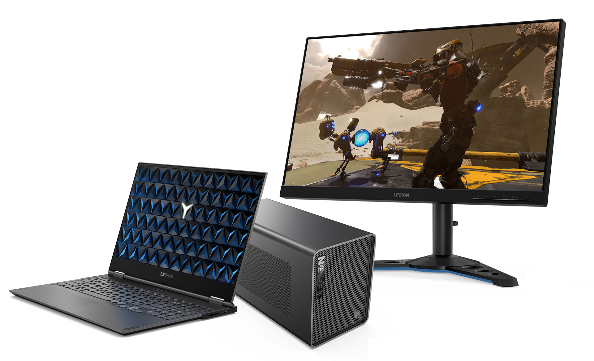 Legion 740S with eBoostStation and 240Hz Y25-25 monitor