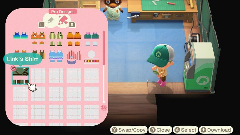 Animal Crossing New Horizons Zelda Outfits Fan Made