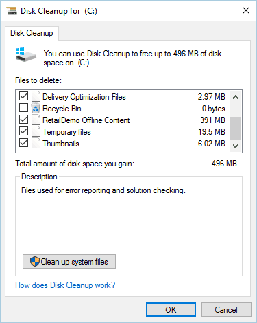 clean your system disk cleanup Another installation is already in progress