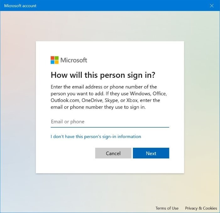 create local account without password in Windows 10 pic2